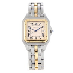 Cartier Panther Panthere Ladies 2-Tone Steel and Gold Panthere Watch