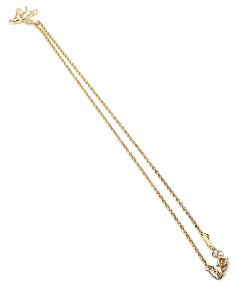 Cartier Panther Pendant Link Yellow Gold Chain Necklace For Sale 7