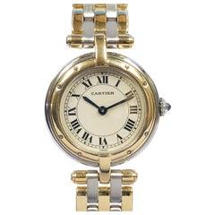 Cartier Panther Ronde Ladies 18 Karat and Steel Quartz Wristwatch