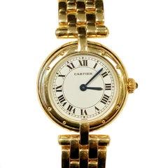 Cartier Panther Ronde Yellow Gold Ladies Quartz Wristwatch
