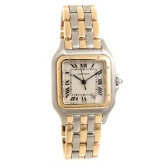 Cartier Yellow Gold Stainless Steel Panther Mid-Size Quartz Wristwatch
