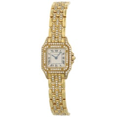 Cartier Panthere 128000 M 18 Karat Yellow Gold Ladies Diamond Watch