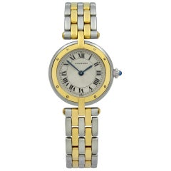 Cartier Panthere 18 Karat Gold Steel Beige Dial Quartz Ladies Watch 166920