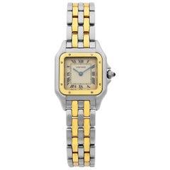 Cartier Panthere 18 Karat Gold Steel Ivory Dial Quartz Ladies Watch W25029B6