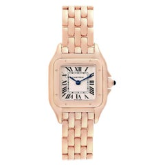 Cartier Panthere 18 Karat Rose Gold Small Ladies Watch WGPN0006 Unworn