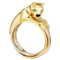 Cartier Panthere 18 Karat Tri Color Gold Ring