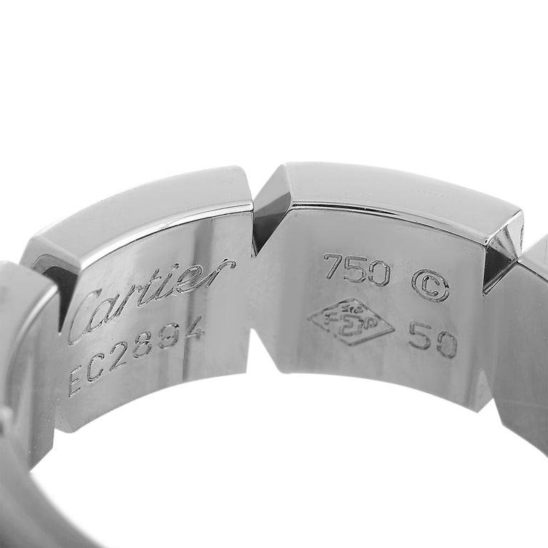 Cartier Panthère 18 Karat White Gold Band Ring For Sale 1