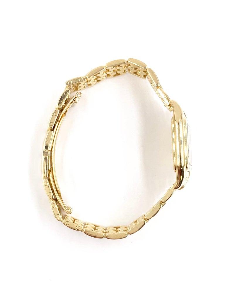 Contemporary Cartier Panthére 18 Karat Yellow Gold Quartz Watch For Sale