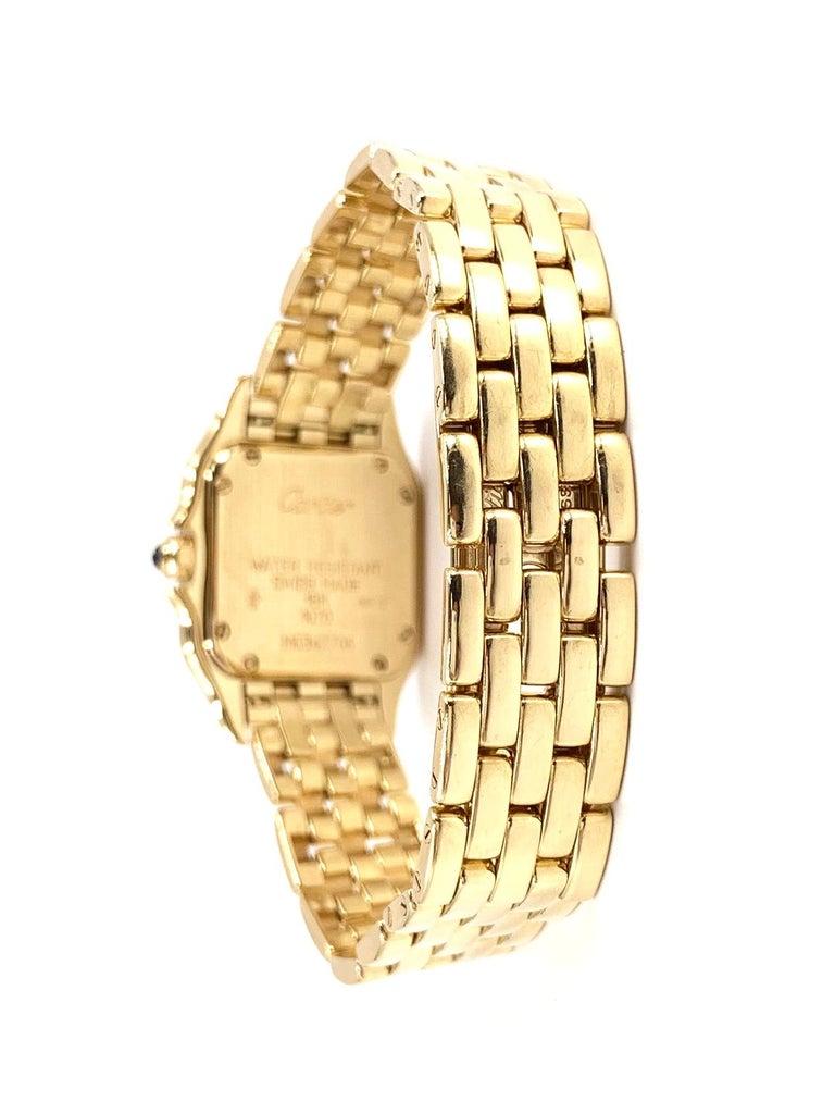 Women's or Men's Cartier Panthére 18 Karat Yellow Gold Quartz Watch For Sale