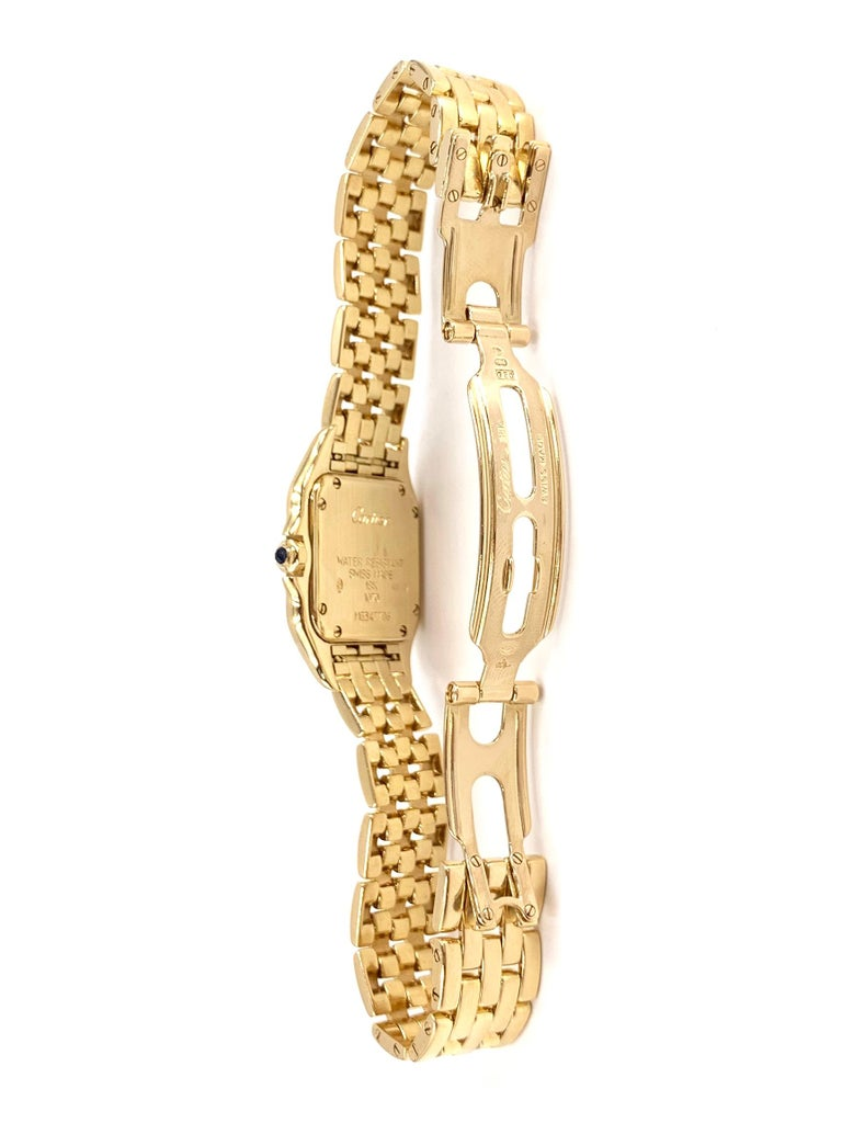Cartier Panthére 18 Karat Yellow Gold Quartz Watch In Good Condition For Sale In Pikesville, MD