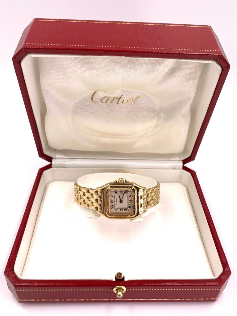 Cartier Panthére 18 Karat Yellow Gold Quartz Watch For Sale 1