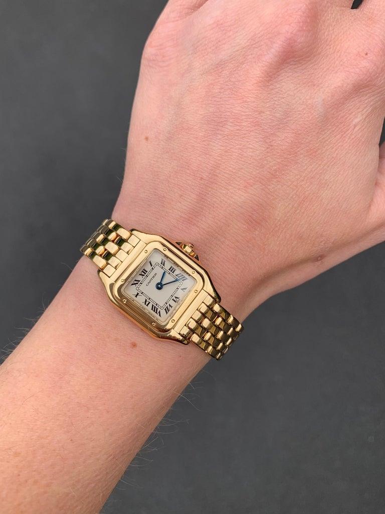 Cartier Panthére 18 Karat Yellow Gold Quartz Watch For Sale 3