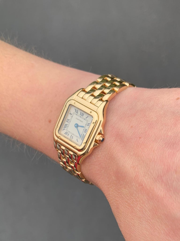 Cartier Panthére 18 Karat Yellow Gold Quartz Watch For Sale 4