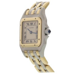 Cartier Panthere 18 Karat Yellow Gold and Steel 112000 R