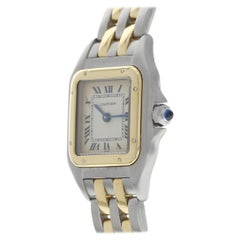 Cartier Panthere 18 Karat Yellow Gold and Steel Ladies Watch
