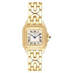 Cartier Panthere 18 Karat Yellow Gold Art Deco Bracelet Ladies Watch 107000