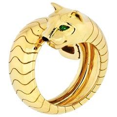 Cartier Panthere 18 Karat Yellow Gold Lakarda Ring