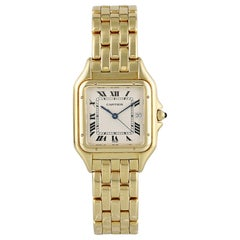 Cartier Panthere 18 Karat Yellow Gold Large 1060 Watch