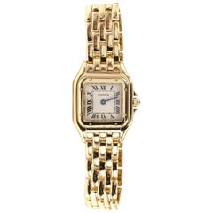 Cartier Panthére 18 Karat Yellow Gold Quartz Watch