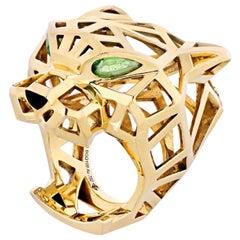 Cartier Panthere 18 Karat Yellow Gold Skeleton Ring
