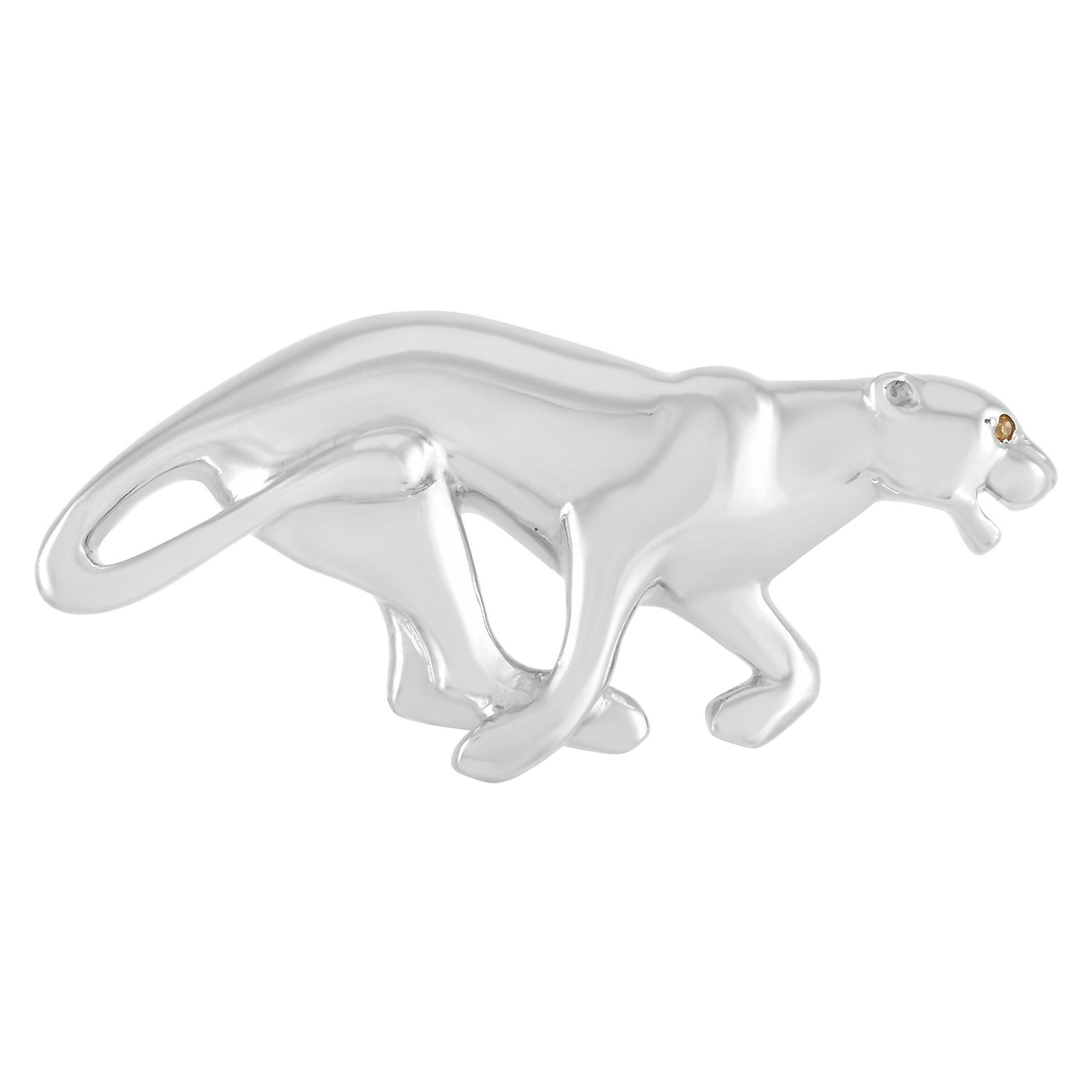 Cartier Panthère 18K White Gold Brooch