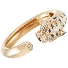 Cartier Panthère 18K Yellow Gold 4.33 Carat Diamond, Emerald and Onyx Bracelet