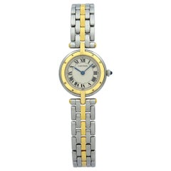 Cartier Panthere 18K Yellow Gold Steel Silver Dial Quartz Ladies Watch 1057920
