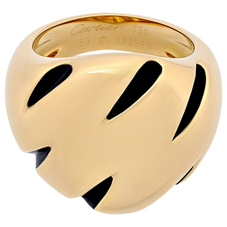 Cartier Panthere Claw Yellow Gold Ring For Sale