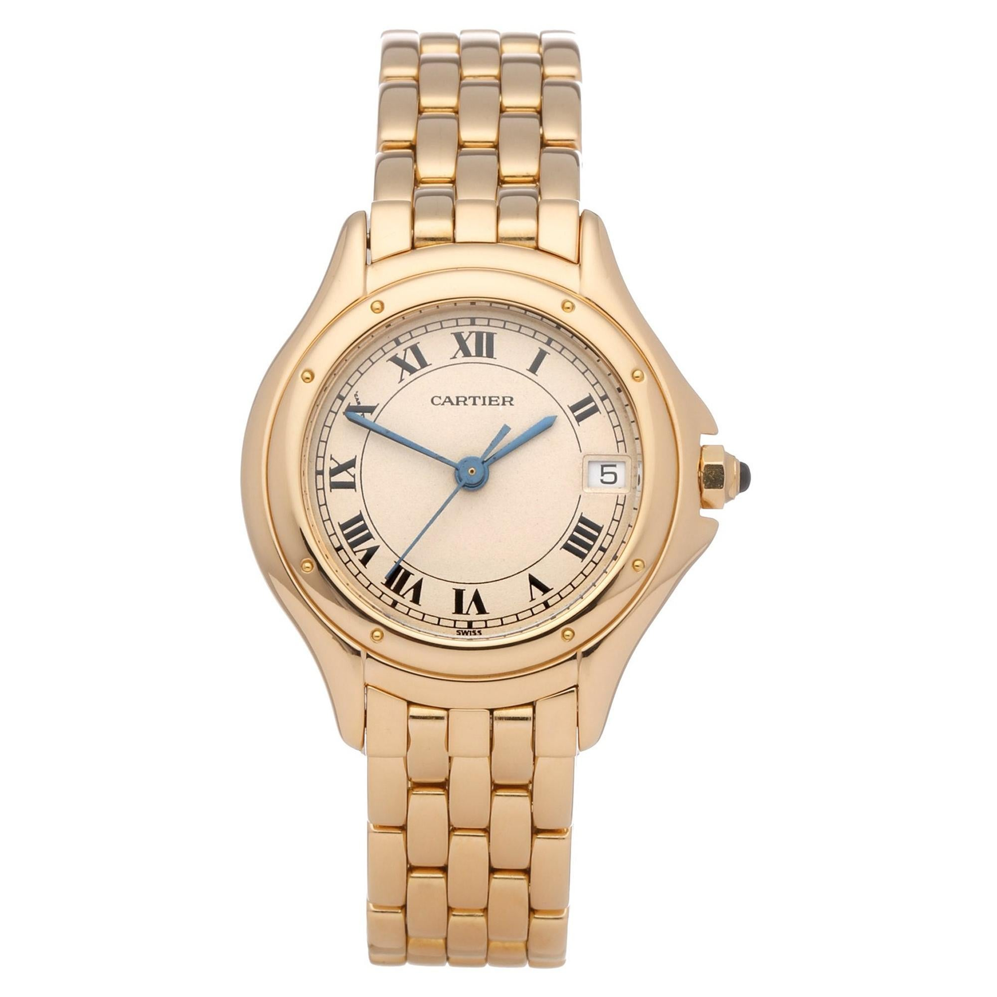 Cartier Panthere Cougar 0 887904 Men's Yellow Gold 0 Watch