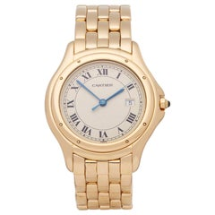 Cartier Panthère Cougar 116000R Unisex Yellow Gold Watch