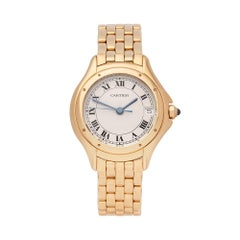 Cartier Panthere Cougar 18K Yellow Gold 887906 ladies Wristwatch