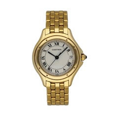 Cartier Panthere Cougar 887906 18k Yellow Gold Ladies Watch