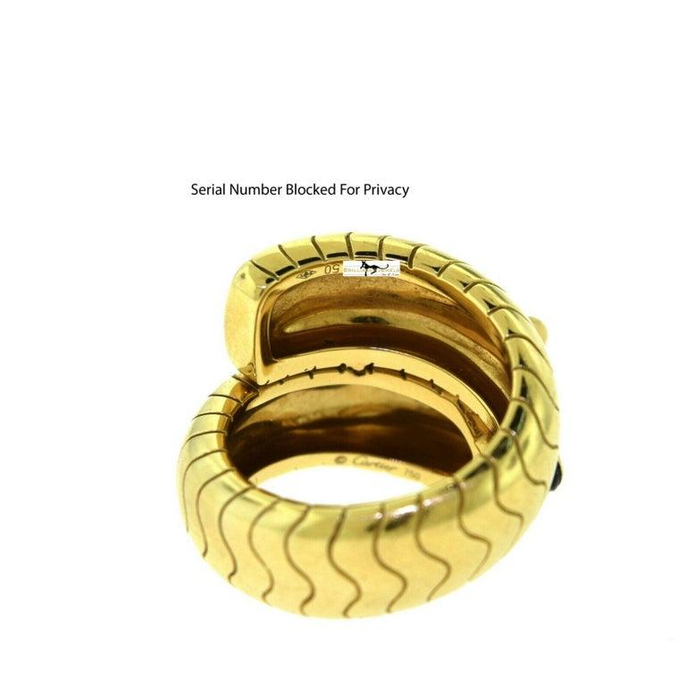 Cartier Panthere De Cartier 18 Karat Yellow Gold Ring With Onyx