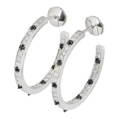 Cartier Panthere de Cartier Diamond and Onyx Hoop Earrings