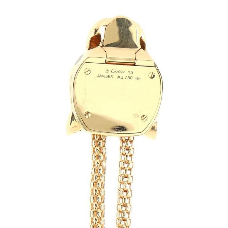Cartier Panthere de Cartier Enlace Bracelet 18K Yellow Gold with Diamonds, Black For Sale 2