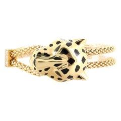 Cartier Panthere de Cartier Enlace Bracelet 18K Yellow Gold with Diamonds