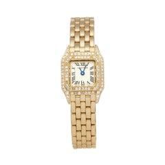Cartier Panthere Diamond 18 Karat Yellow Gold 1/1/1131 Wristwatch
