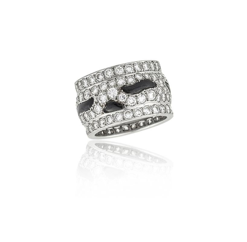 Cartier Panthère Diamond and Onyx Band Ring