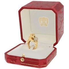 Cartier 'Panthere' Diamond Dress Ring Original Box