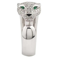 Cartier Panthere Diamond Emerald and Onyx Ring N4224900