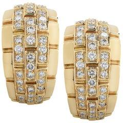 Cartier Panthere Diamond Hoop Earrings