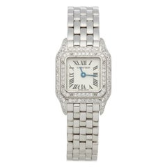 Cartier Panthère Diamond Mother of Pearl 18 Karat White Gold 2363