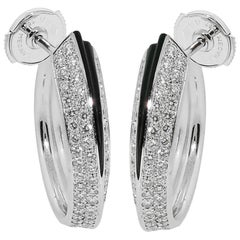 Cartier Panthere Diamond Onyx Gold Earrings
