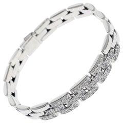 Cartier Panthere Diamonds Bracelet 18 Karat White Gold