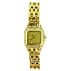 Cartier Panthere Diamonds Small Model Yellow Gold Watch