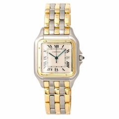 Cartier Panthere Jumbo 187957 Unisex 18 Karat 3-Row Two-Tone Watch Quartz