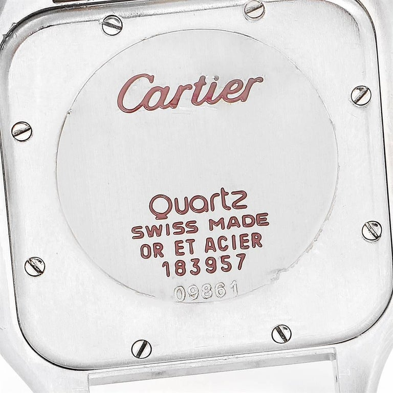 Cartier Panthere Jumbo Steel 18 Karat Yellow Gold Three-Row Quartz Watch 2