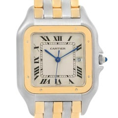 Cartier Panthere Jumbo Steel 18 Karat Yellow Gold Three-Row Quartz Watch