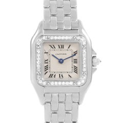 Cartier Panthere Ladies 18 Karat White Gold Diamond Watch WF3091F3