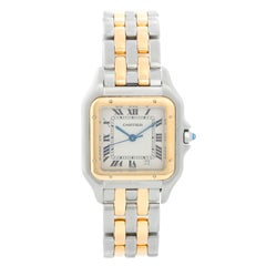 Cartier Panthere Ladies 2-Tone 2-Row Midsize Steel and Gold Watch